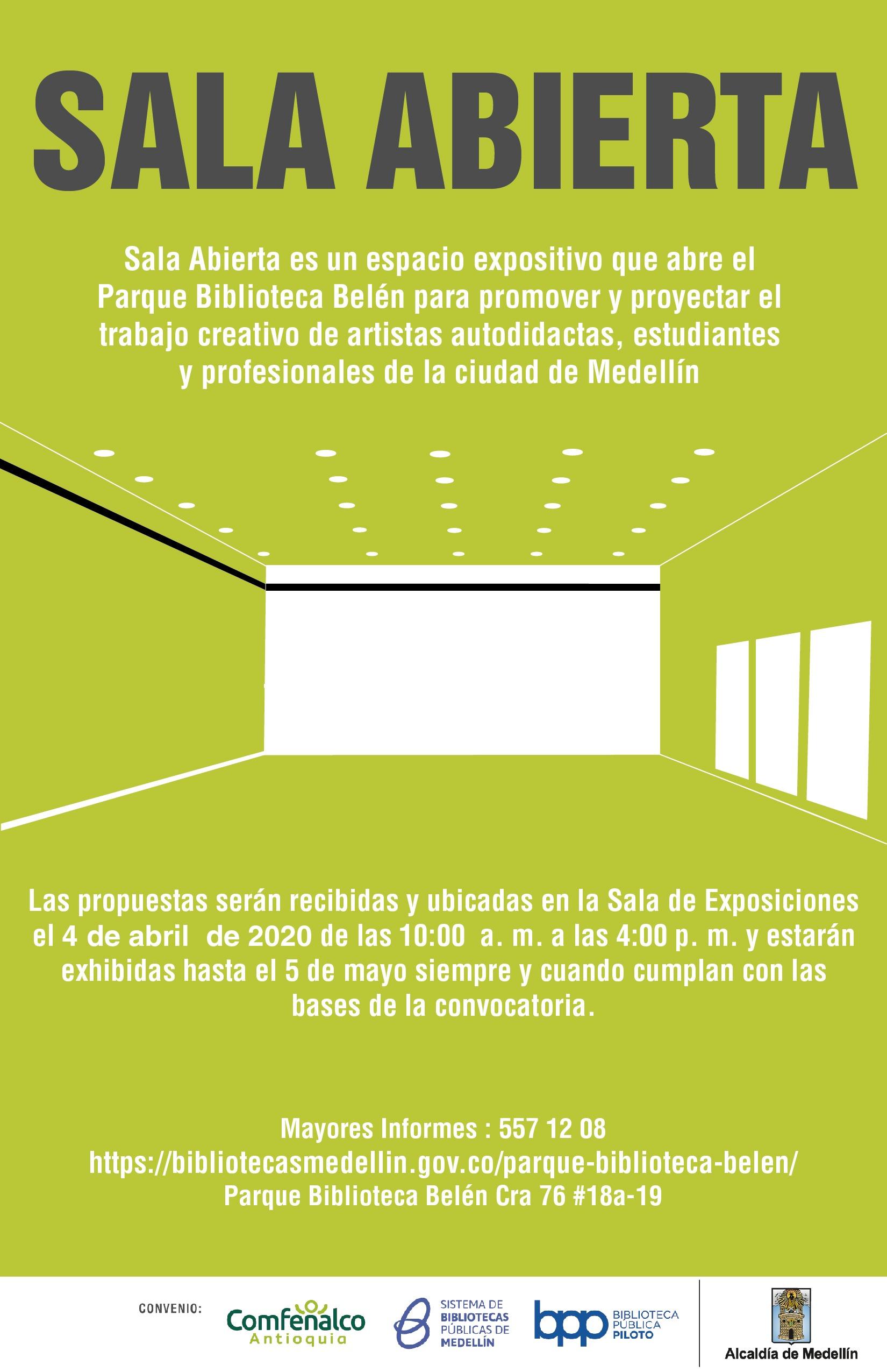Sala Abierta Parque Biblioteca Belén 2020