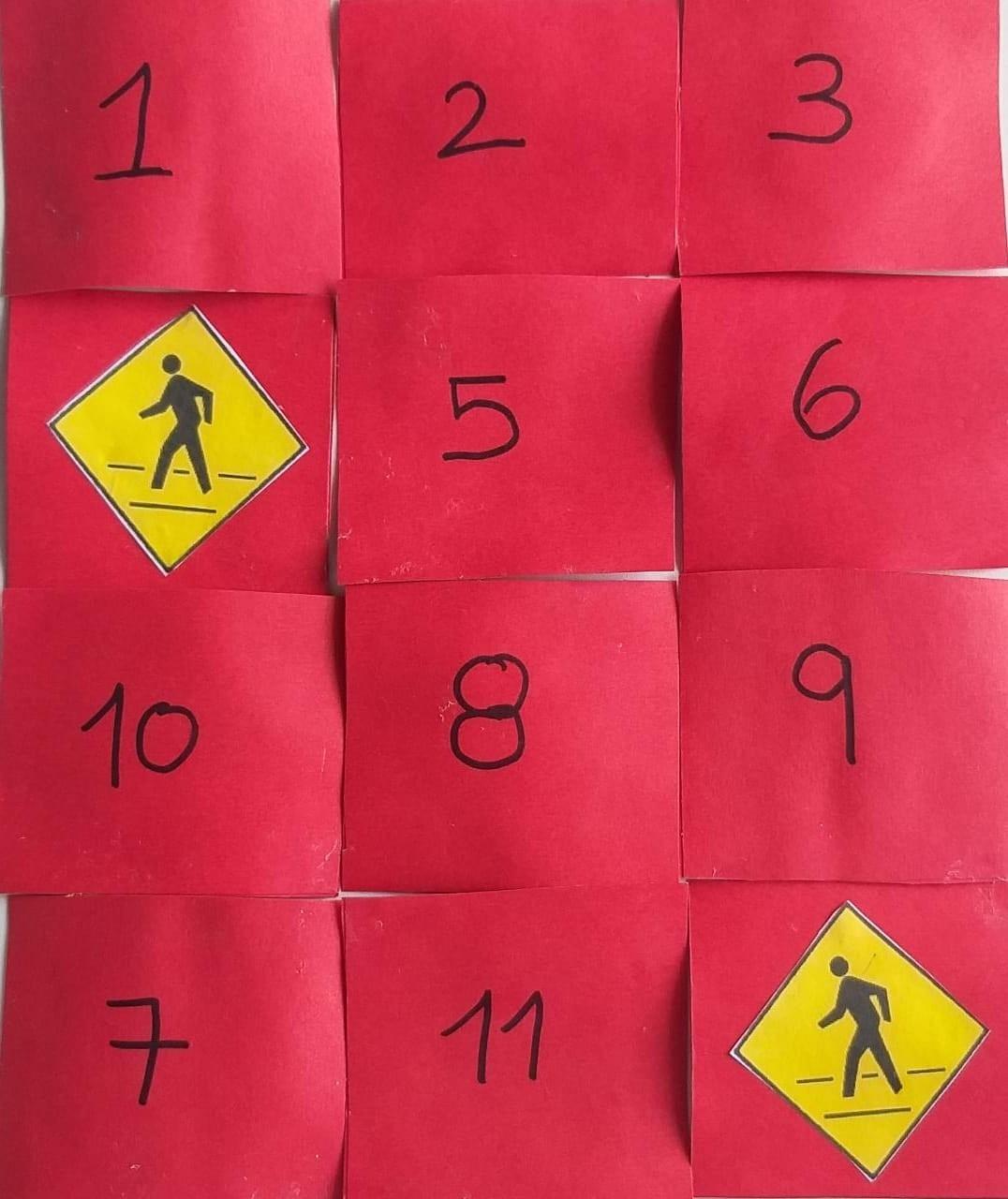 Materiales concéntrese señales de tránsito