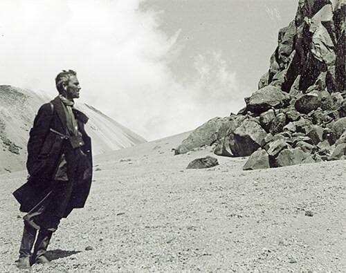 Fernando González en el Nevado del Ruiz