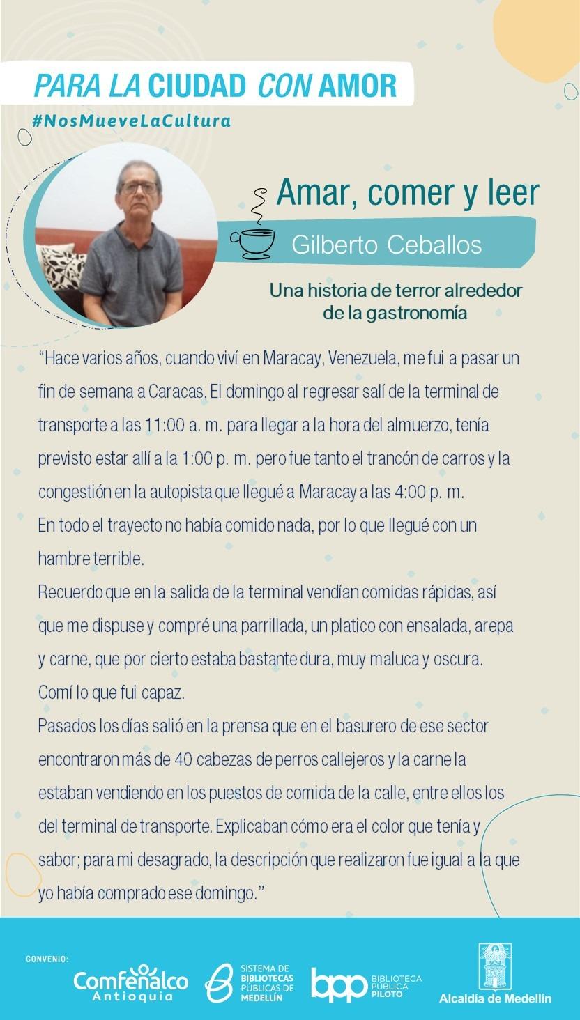 Amar, comer y leer – Gilberto Ceballos