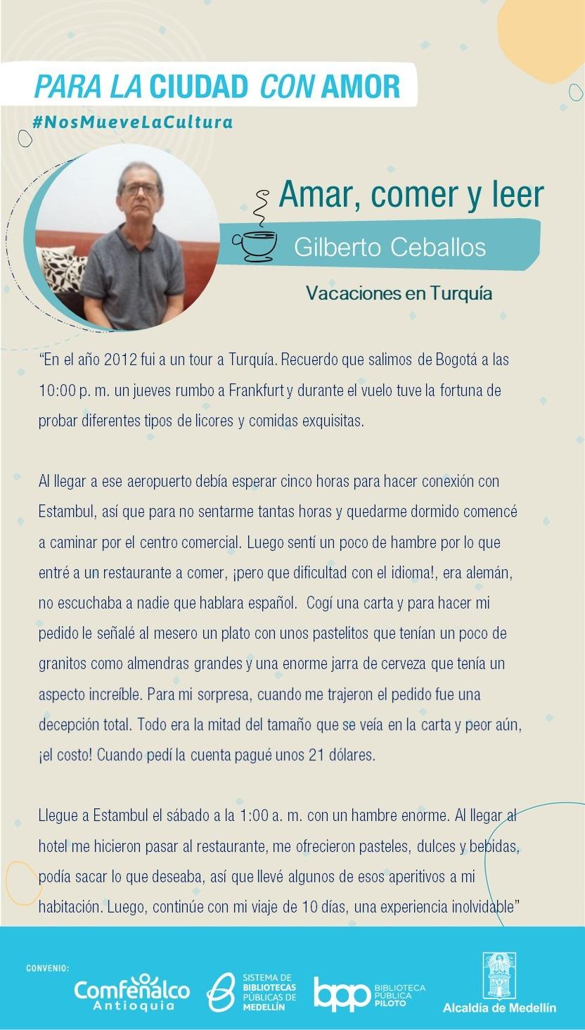 Amar, comer y leer - Gilberto Ceballos