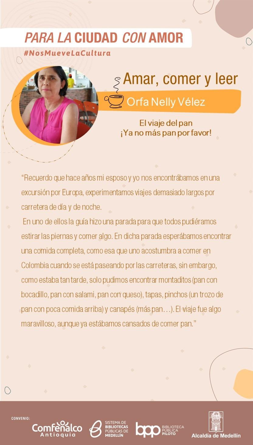 Amar, comer y leer – Orfa Nelly