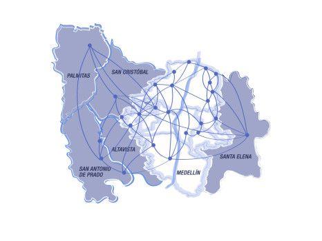 Mapa sistema de bibliotecas públicas de medellín