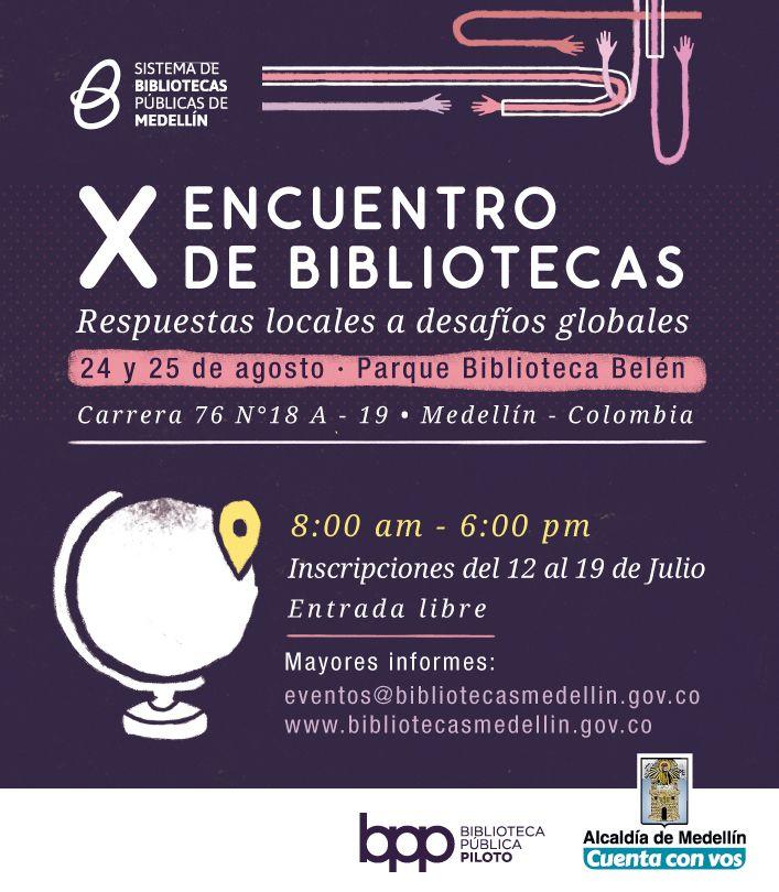 X Encuentro de bibliotecas, respuestas locales a desafíos globales